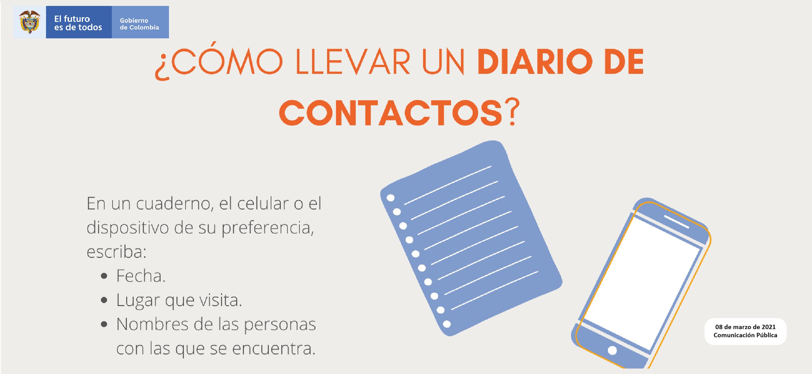 Diario de contactos