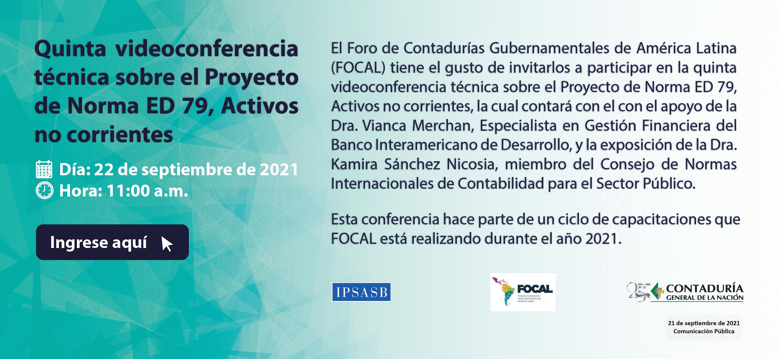 Participe en la quinta videoconferencia técnica sobre el Proyecto de Norma ED 79